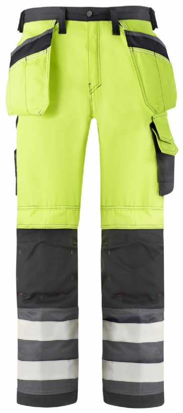 Snickers 3233 High-Vis Holster Pocket Trousers, Class 2 (High Vis Yellow / Muted Black)